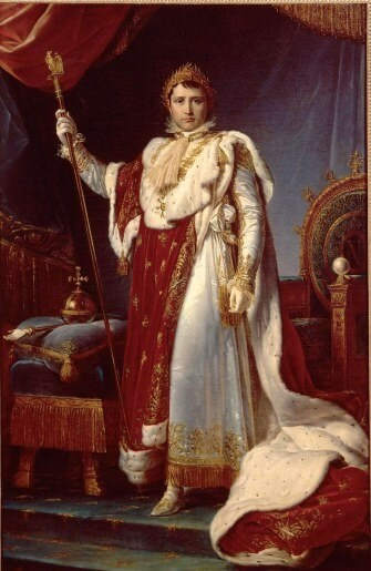 baron napoleon en costume de sacre