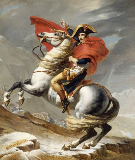 David, Napoléon traversant les Alpes, 1805