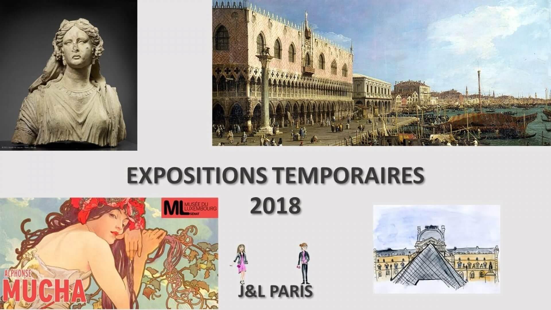 Expositions temporaires Paris 2018