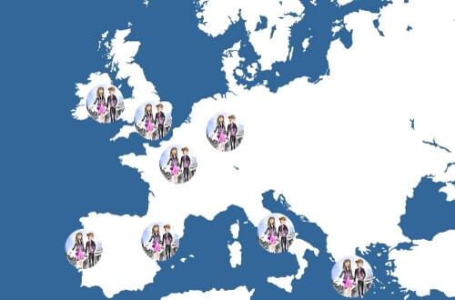 j&l à étranger europe